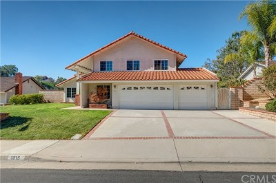 San Dimas Single Family Home For Sale: 1815 Via Palomares