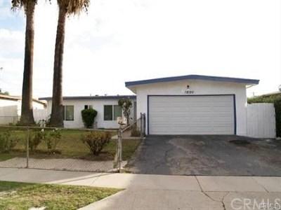 La Puente Single Family Home For Sale: 18120 Northam Street