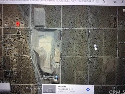 San Bernardino County Residential Lots & Land For Sale: Smoke Tree Rd