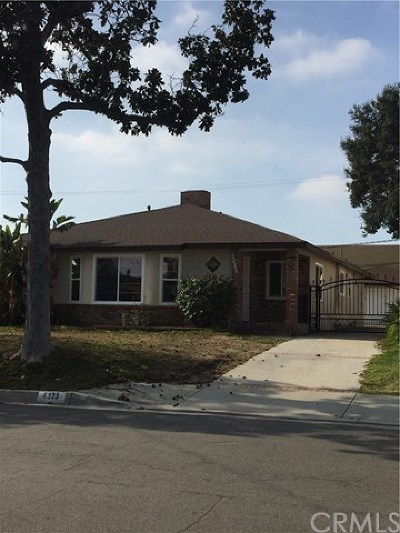 Temple City Single Family Home For Sale: 6323 Sultana Avenue