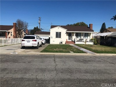 West Covina Single Family Home For Sale: 629 E Barbara Avenue