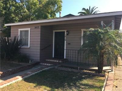 Long Beach Single Family Home For Sale: 1412 E Wardlow Road