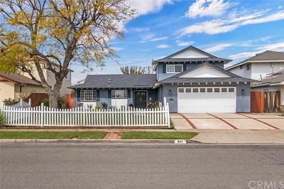 Placentia Single Family Home For Sale: 841 Berkenstock Lane