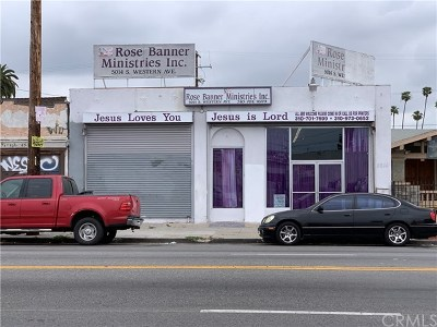 Los Angeles Commercial For Sale: 5014 S Western Avenue