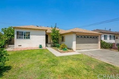 El Monte Single Family Home For Sale: 4445 Whitney Drive