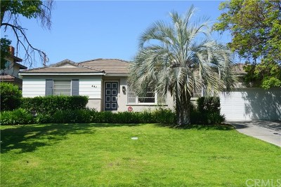 Arcadia Single Family Home For Sale: 441 Drake