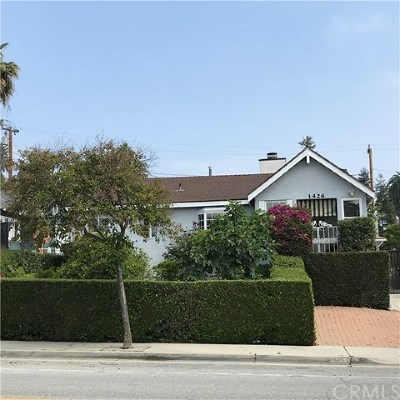 South Pasadena Single Family Home For Sale: 1426 Alhambra Road
