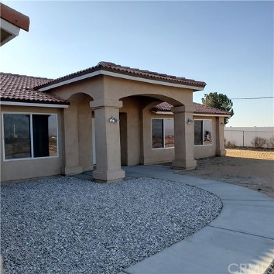 Hesperia CA Single Family Home For Sale: $359,000