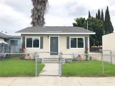 Compton Single Family Home For Sale: 910 N Tamarind Avenue