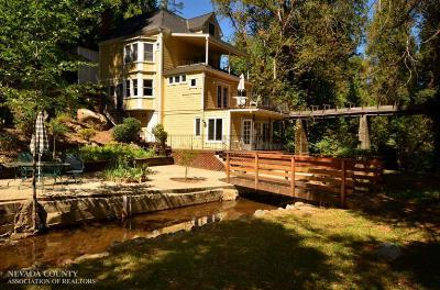 Nevada City CA Single Family Home SOLD: $525,000