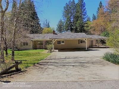 Grass Valley Single Family Home For Sale: 11148 Glen Meadow Drive