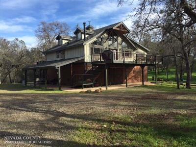 Butte County, Nevada County, Placer County, Sacramento County, Sierra County, Sutter County, Yuba County Single Family Home For Sale: 12515 Hatchet Creek Road