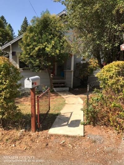 Grass Valley Single Family Home For Sale: 432 Marshall Street