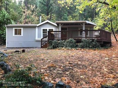 Nevada City CA Single Family Home For Sale: $259,000