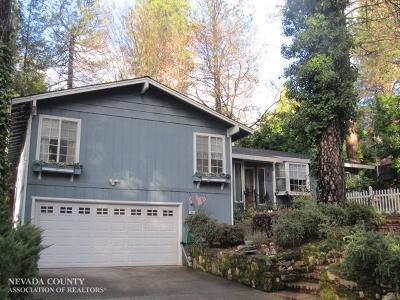 Nevada City CA Single Family Home For Sale: $579,000