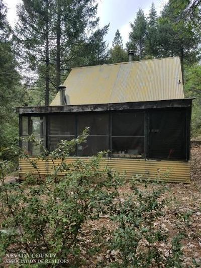 Nevada City CA Single Family Home For Sale: $240,000