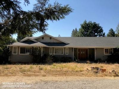 Grass Valley Single Family Home Active Short Sale: 13728 Strubels Lane