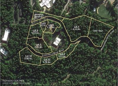 Nevada County Residential Lots & Land For Sale: Providence Mine Road