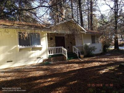 Nevada County Single Family Home For Sale: 10190 Kenwood Drive