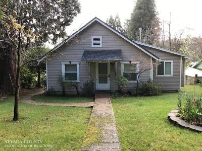 Nevada County Single Family Home For Sale: 109 Nevada City Highway