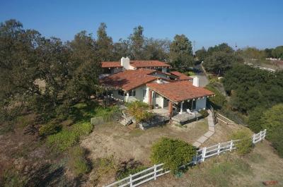Santa Ynez Single Family Home For Sale: 2750 N Refugio Road