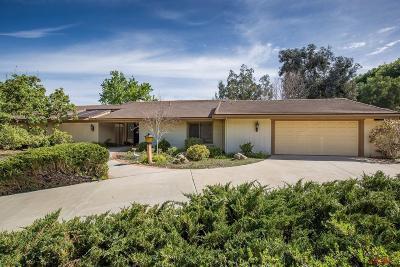 Solvang Single Family Home For Sale: 560 Rancho Alisal Drive