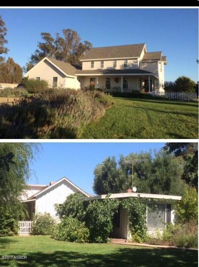 Santa Ynez Single Family Home For Sale: 1552 N Refugio Road