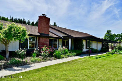 Santa Ynez Single Family Home For Sale: 3050 Samantha Drive