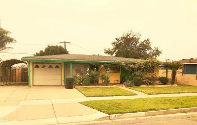 Santa Barbara County Single Family Home For Sale: 609 N Curryer Street