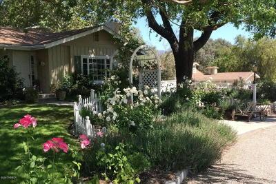 Santa Ynez Single Family Home For Sale: 778 N Refugio Road