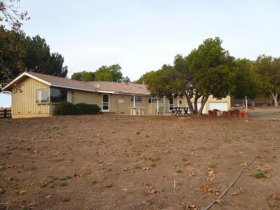 Lompoc Single Family Home For Sale: 4310 Sweeney Road