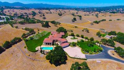Solvang Single Family Home For Sale: 1900 Adobe Canyon Road