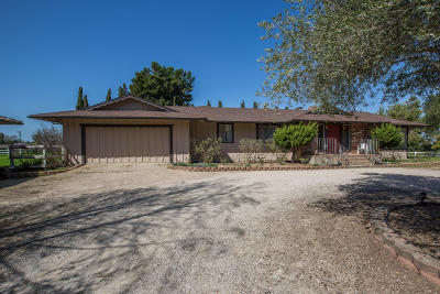 Santa Ynez Single Family Home For Sale: 1187 Mustang Drive