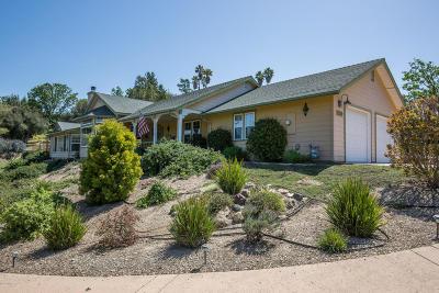 Solvang Single Family Home For Sale: 2578 School Street