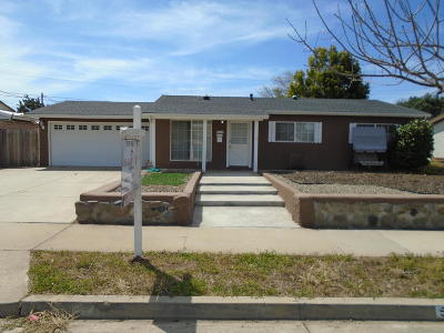 Santa Maria Single Family Home For Sale: 5435 Stanford Drive