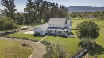 Santa Ynez Single Family Home For Sale: 1552-1558 N Refugio Road