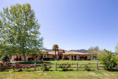 Ballard, Buellton, Los Alamos, Los Olivos, Santa Ynez, Solvang Single Family Home For Sale: 4084 Indian Way