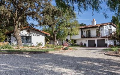 Santa Ynez Single Family Home For Sale: 1759 N Refugio Road