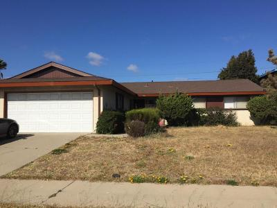 Santa Maria Single Family Home For Sale: 1846 Lynne Drive
