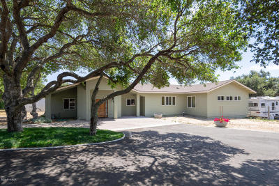 San Luis Obispo County Single Family Home For Sale: 283 Summit Station Road