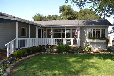 Santa Ynez Single Family Home For Sale: 1021 N Refugio Road