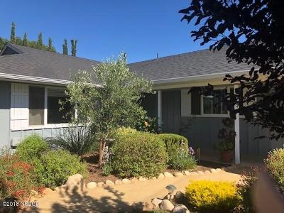Santa Ynez Single Family Home For Sale: 1219 Faraday Street