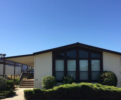Santa Maria Single Family Home Active Under Contract: 1650 E Clark Avenue #228