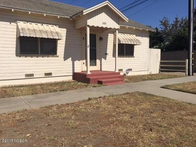 Santa Maria Single Family Home For Sale: 508 S School Street