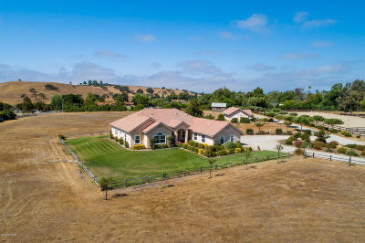 Santa Ynez Single Family Home For Sale: 5510 Baseline Avenue