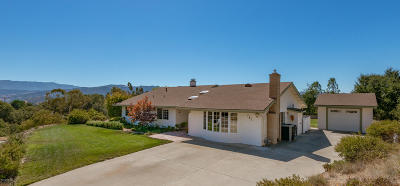 Solvang Single Family Home For Sale: 761 Elsinore Drive