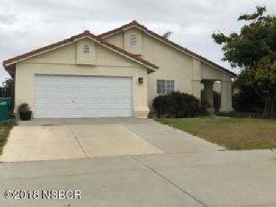 Nipomo Single Family Home For Sale: 235 E Chestnut Street