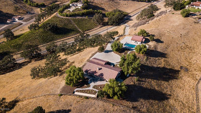 Santa Ynez Single Family Home For Sale: 2860 Woodstock Road