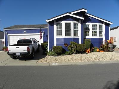 Lompoc Single Family Home For Sale: 1317 N V Street #66