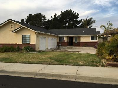 Santa Maria Single Family Home For Sale: 865 Firefox Drive